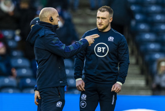 Captain Stuart Hogg spoke up for head coach Gregor Townsend ahead of the game in Rome.