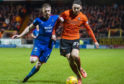 Shaun Rooney (left) in action with Dundee United's Louis Appere.
