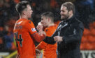 Lawrence Shankland and Robbie Neilson at the final whistle against Inverness.