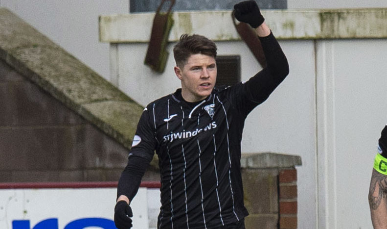 The striker pictured during his days at Dunfermline.