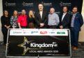 Picture Shows: Kingdom FM Local Hero Awards Main Sponsors (Left) Sophie Ballantine (Optos), Lynda McKillop (Optos), Stuart Aitken (Cardenden Beds & Pine), Michelle Adamson (Velux), Douglas Robertson (Stagecoach), Owen Buchanan (Owen Buchanan Builders & Skips), Andy Lamb (Forth Ports Rosyth), Tony Chalmers (Kingdom FM)  - Thursday 6th February 2020 - Steve Brown / DCT Media