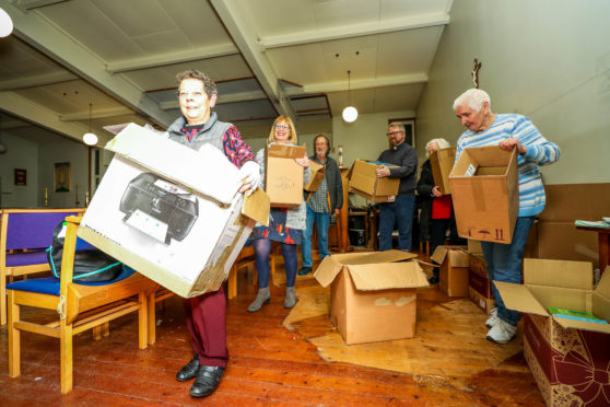 The congregation of St Luke's in Glenrothes packing up 60 years of worship at the church.