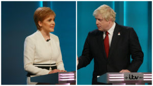 Boris Johnson and Nicola Sturgeon have clashed over the prime minister's controversial immigration plans.