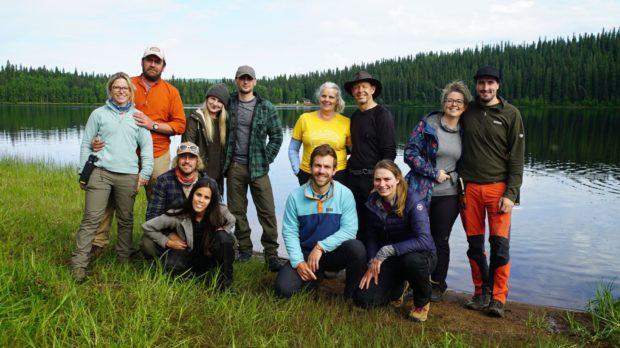 Programme Name: Win the Wilderness: Alaska. Picture Shows: (l-r) Mark & Emily, Chris & Tina, Matt & Rachel, Jane & Pete, Jerome & Laura, Bee.