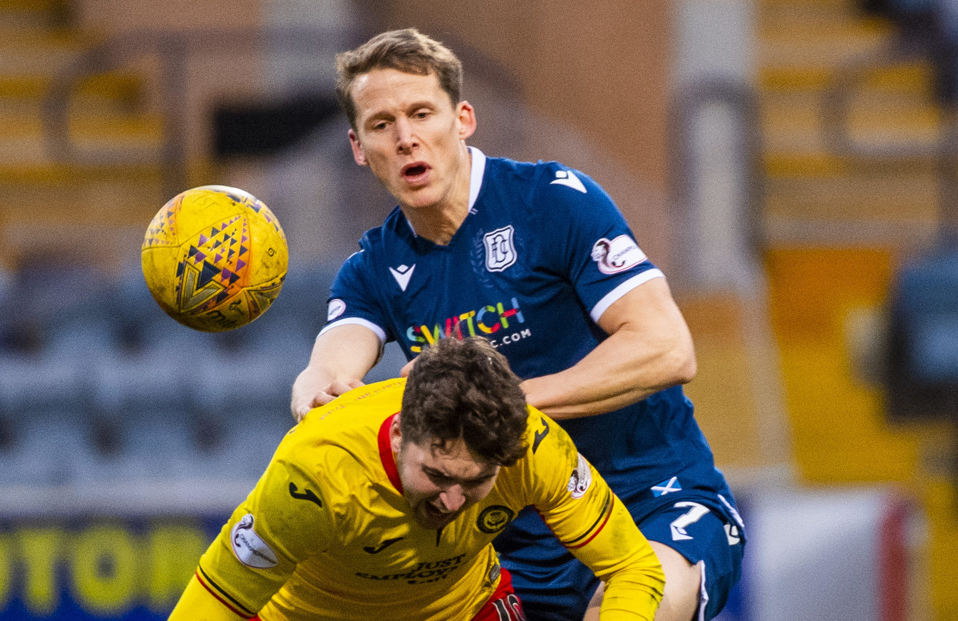 Christophe Berra in action against Partick Thistle.