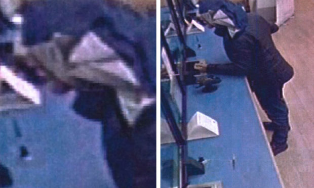Matthew Davies was captured on CCTV during the bank robbery.