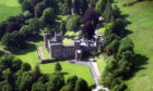 An aerial view of Kinfauns Castle.