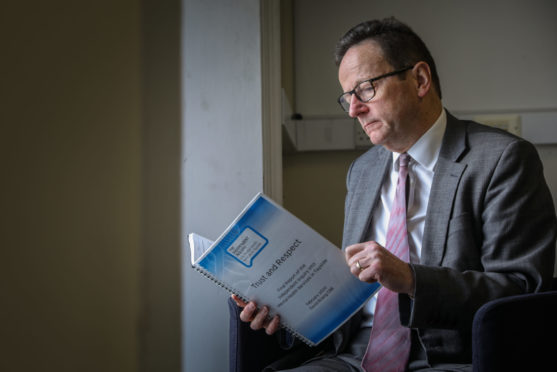 Dr David Strang, author of Trust and Respect - a report into NHS Tayside's mental health services.