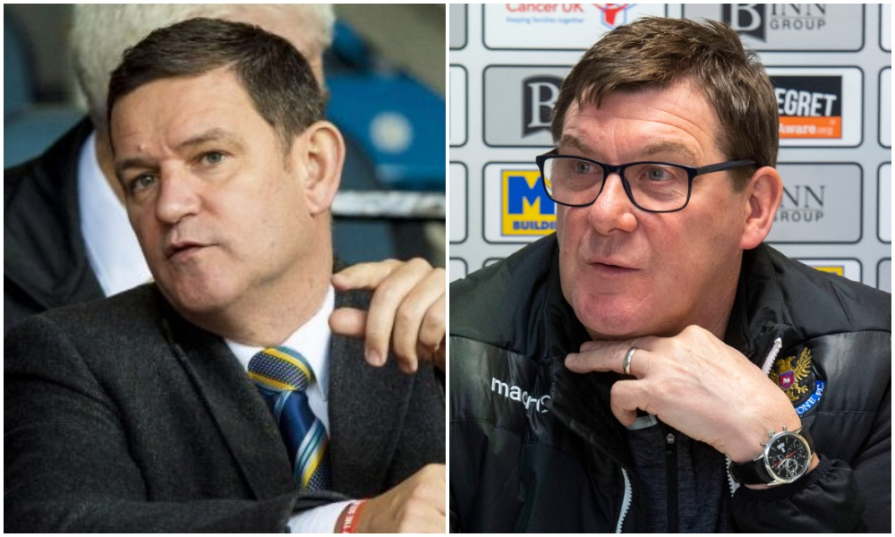 Brown discussed relationship with St Johnstone boss Wright