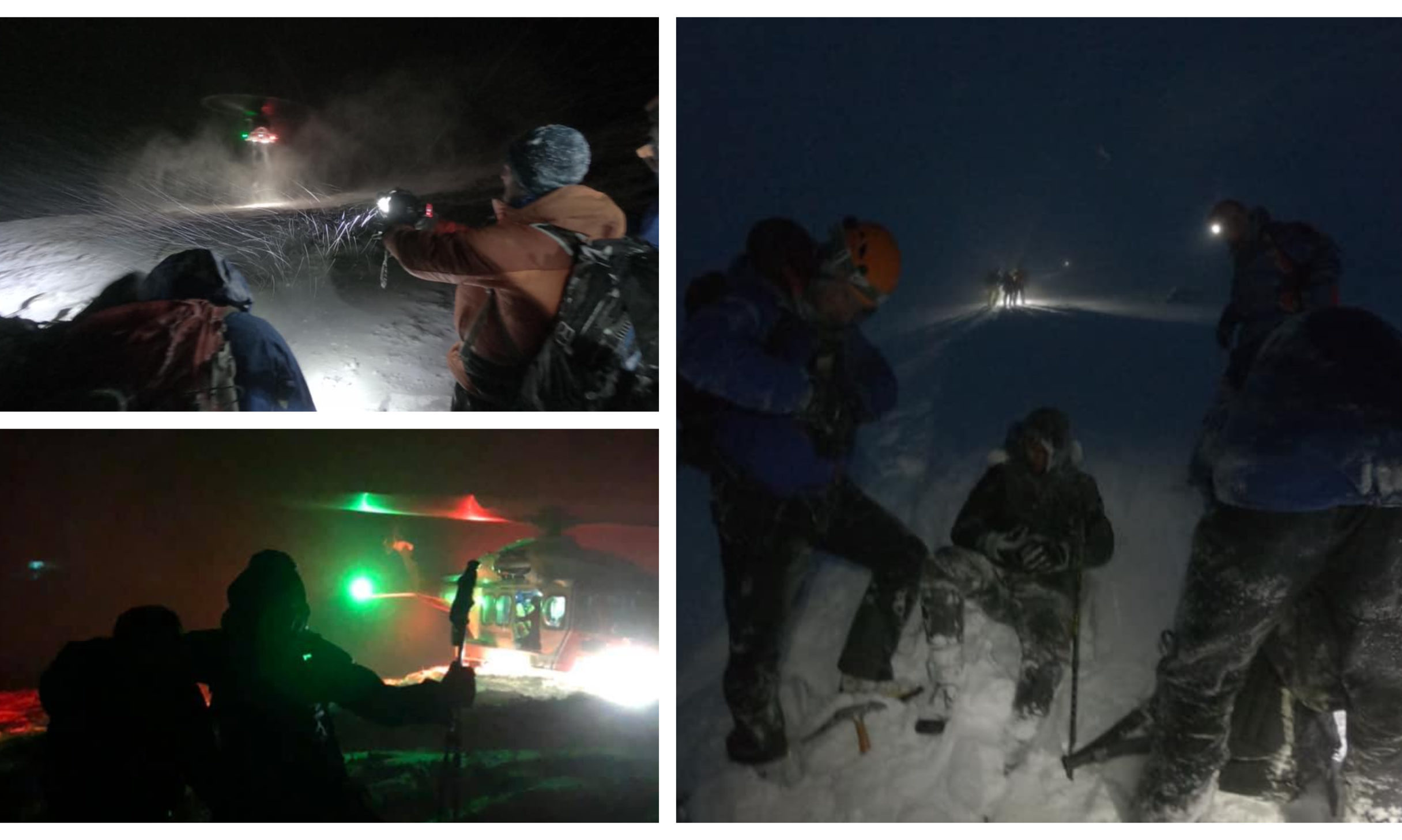 Photos from the rescue on Ben Nevis.