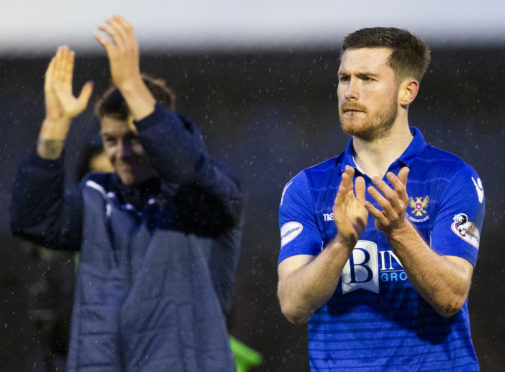 Anthony Ralston and Callum Hendry after St Johnstone beat Ayr United.