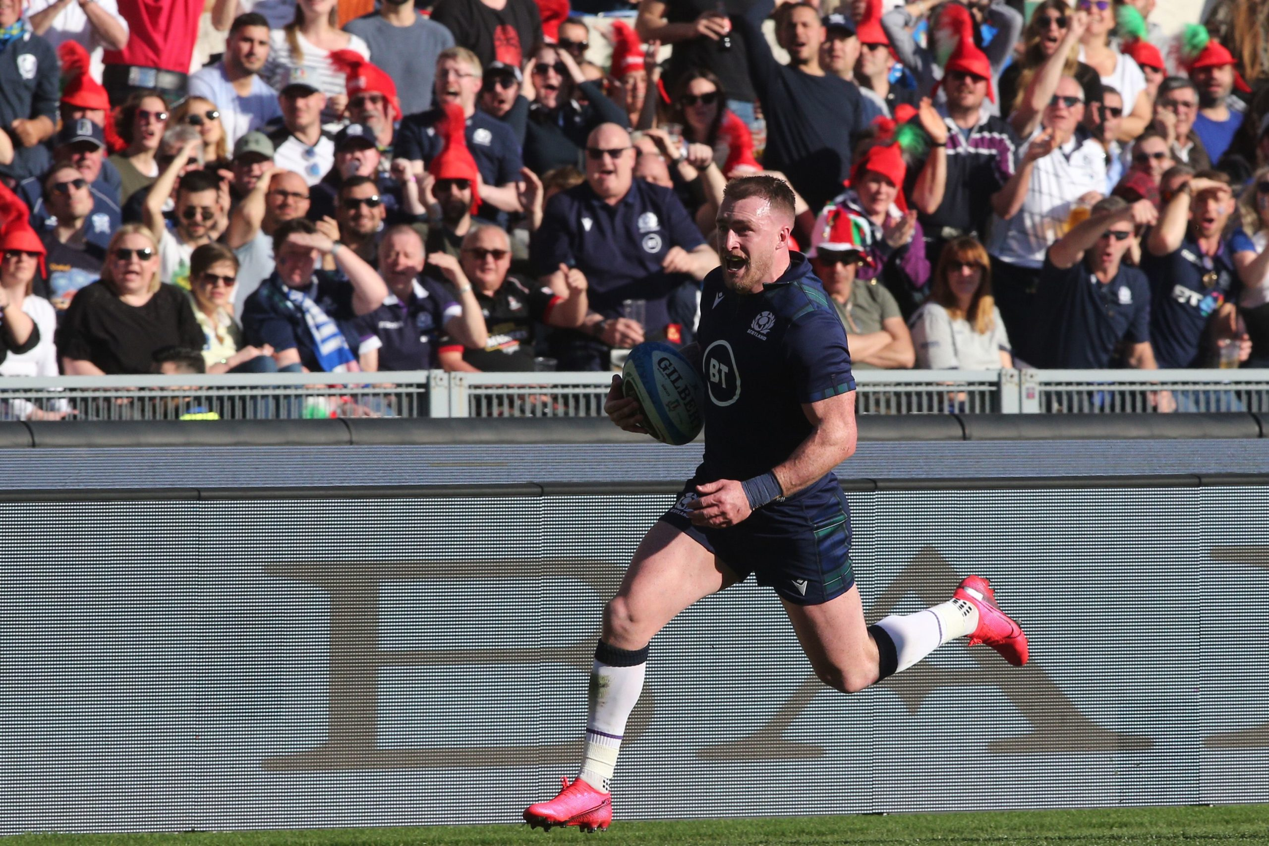 Scotland captain Stuart Hogg's brilliant solo try lit up a poor game in Rome.