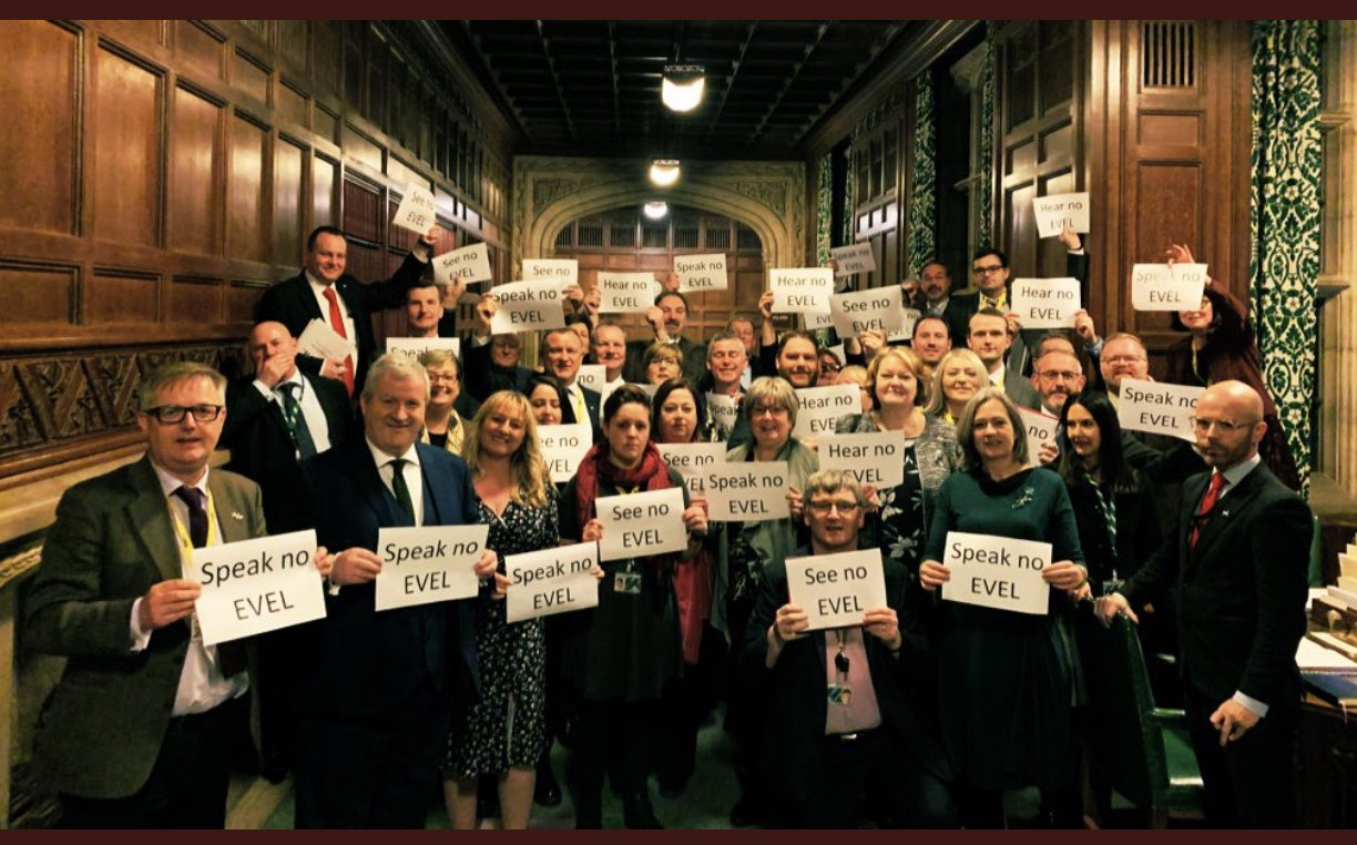 SNP MPs protest over EVEL laws.