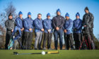 Seven soldiers from Canada, the United States and the United Kingdom have convened at The Duke's Course in St. Andrews,  for the second session of the 'Caddie School for Soldiers'.  Picture shows; Mentors Davy Gilchrist (far left) and David Scott (far right) with the seven soldiers, l to r, John Pitts, Josh Campbell, Rick Finn, Dan Matthews, Robert Goodwin, Jeremy Balmonte and Stu Beaton.