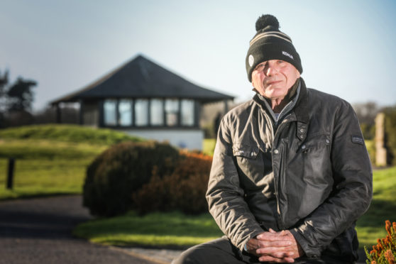 Founder Don Snyder pictured at the Duke's Course, St Andrews, in February