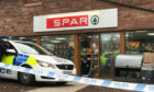 The Spar break-in at Inchture.