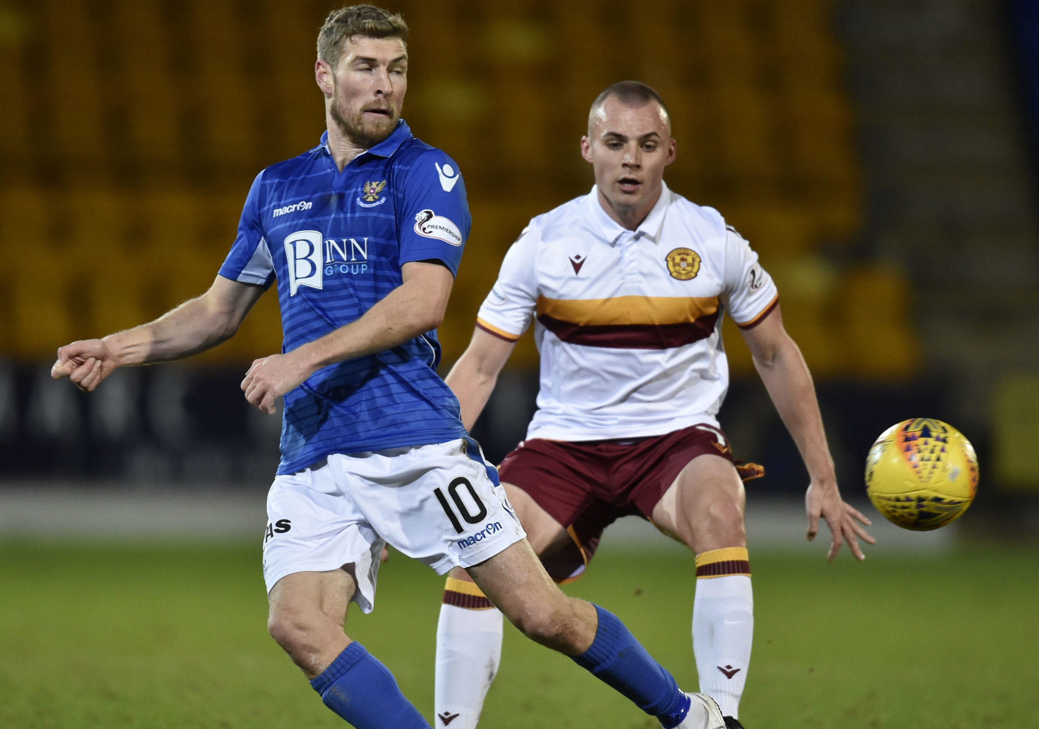 David Wotherspoon in action against Motherwell.