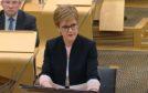 Nicola Sturgeon making her statement after the resignation of Derek Mackay.