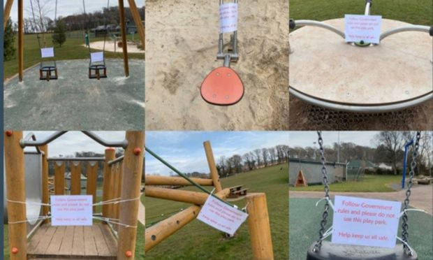 Signage on play parks