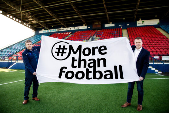 Peter Davidson, Chief Executive at Montrose Community Trust and  Tom Hutchison, Chief Executive at Montrose Port Authority.