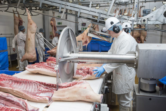 """The majority of the Brechin pigmeat plant's 70 staff are on the """"front line"""" of the food supply chain."""