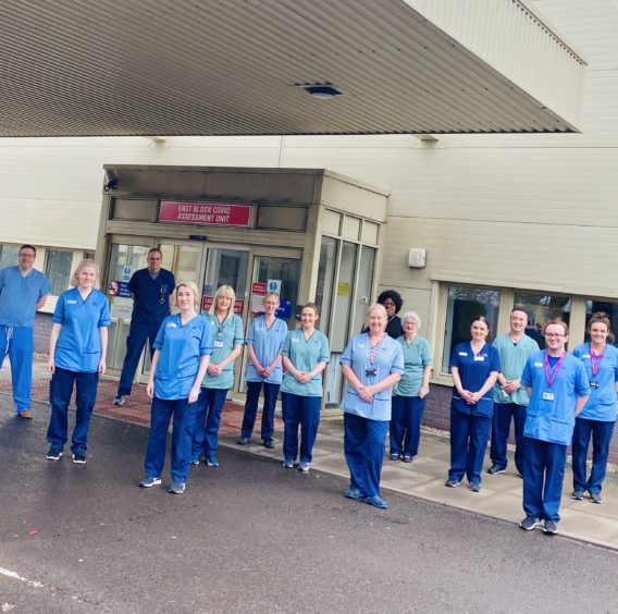 Ninewells staff on the frontline of the Covid-19 fight.