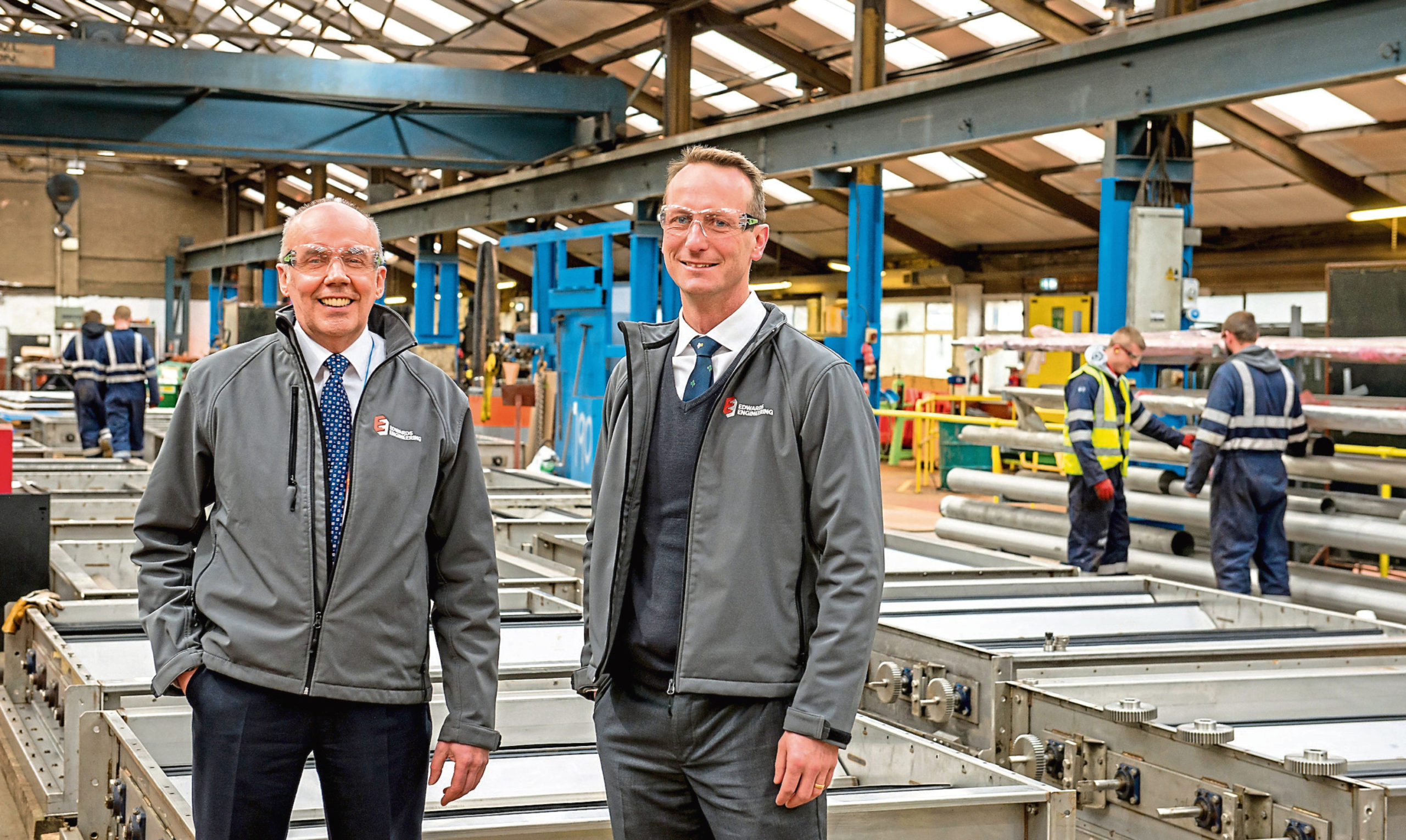 Edwards Engineering managing director Sandy Kirk and chief executive Ben Carter