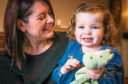 Freya Fernie and her mum Jody are supporting The Courier's First Aid Kids campaign.  Jody feared her daughter, 2, would die before an heroic lifesaver stepped in to save the choking toddler.