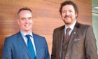 Broker Insights chief executive Fraser Edmond and chairman Chris van der Kuyl.