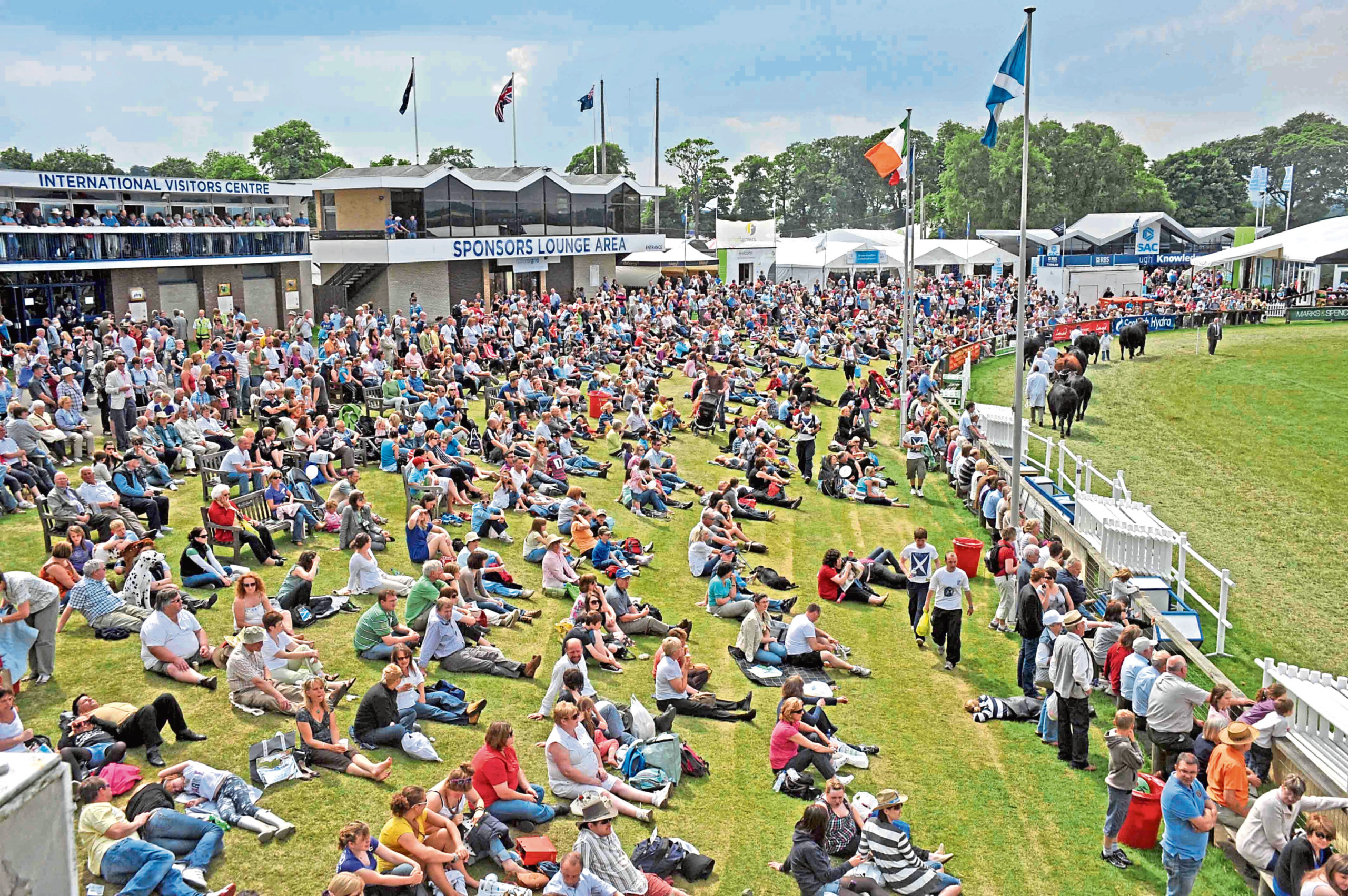 The show is Scotland's largest outdoor  event, attracting up  to 200,000 people each year.