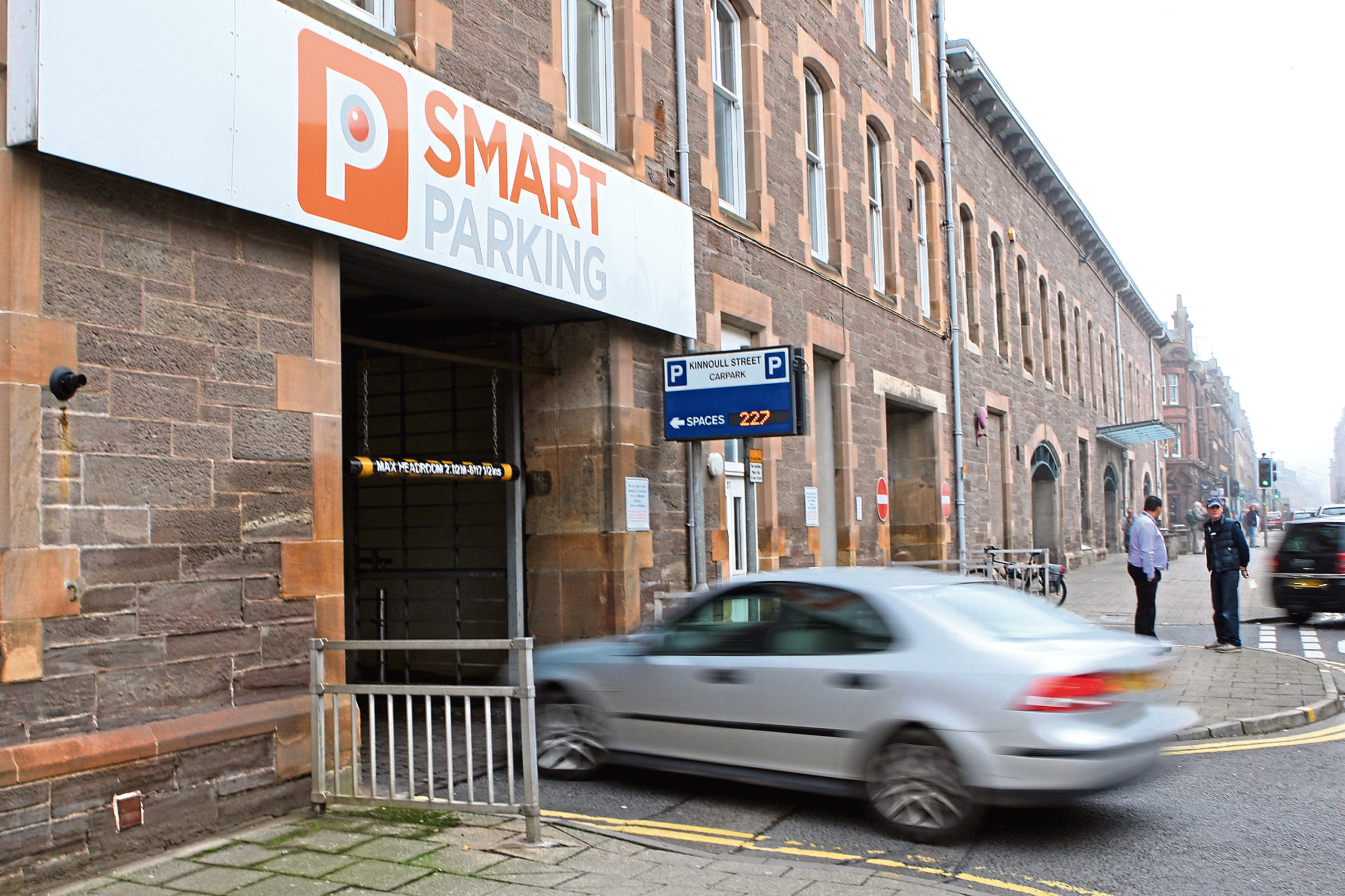 Kris Miller, Courier, 03/11/15. Picture today shows Smart Parking car park on Kinnoull Street, Perth for report on the controversial company.