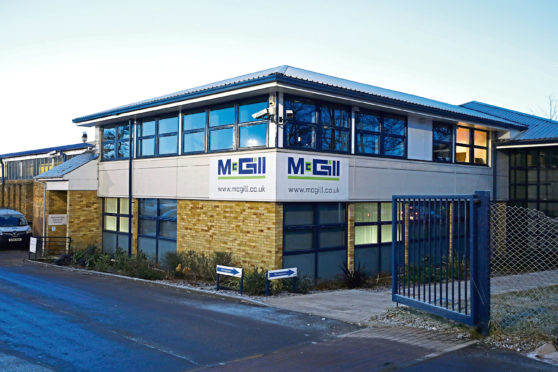 The McGill premises on Harrison Road, Dundee.