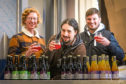 Vault City Brewing marketing manager Andy Gibson and co-founders Johnny Horn and Steve Smith-Hay with some of the companys beers.