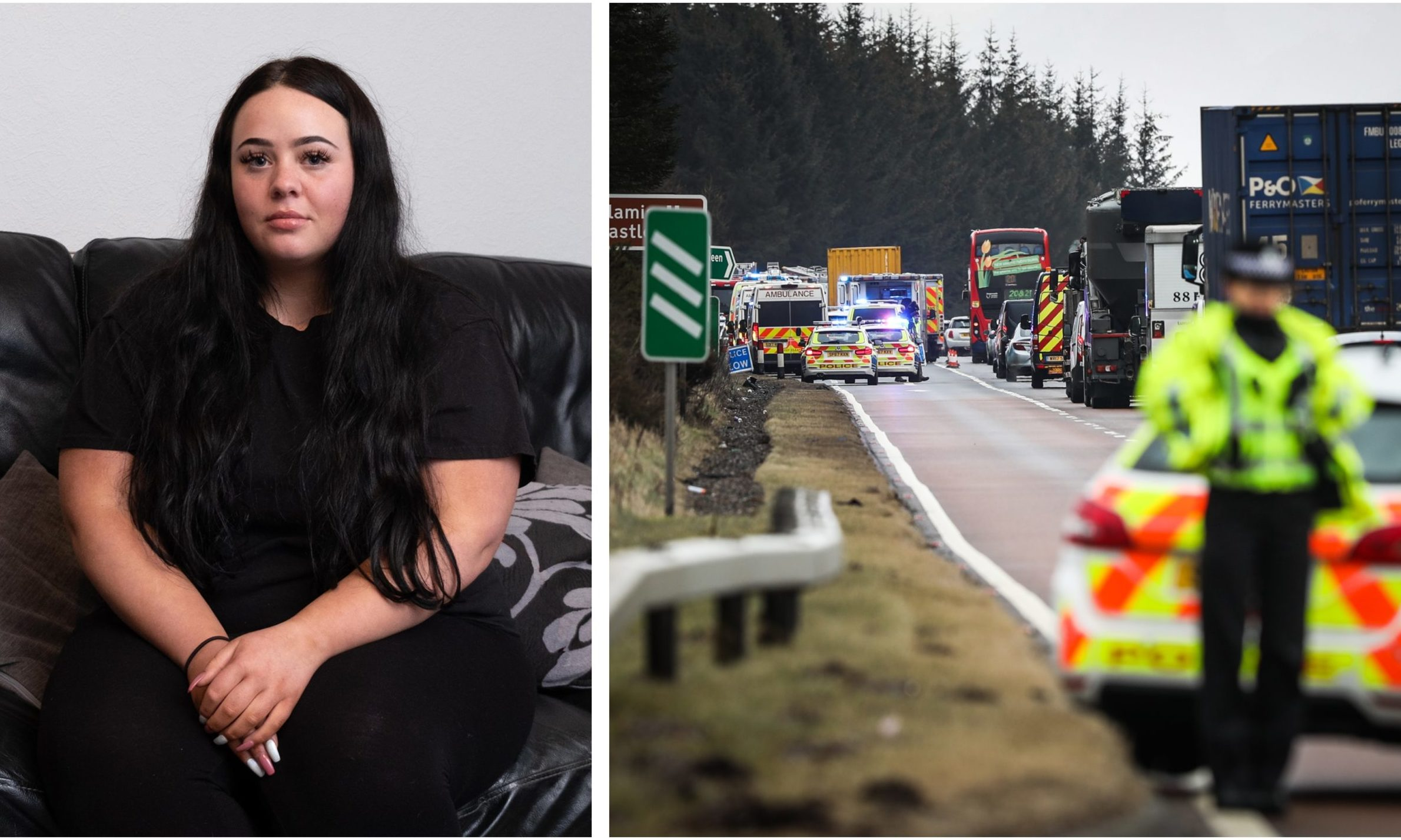 Danielle Ashley was on the bus travelling on the A90.