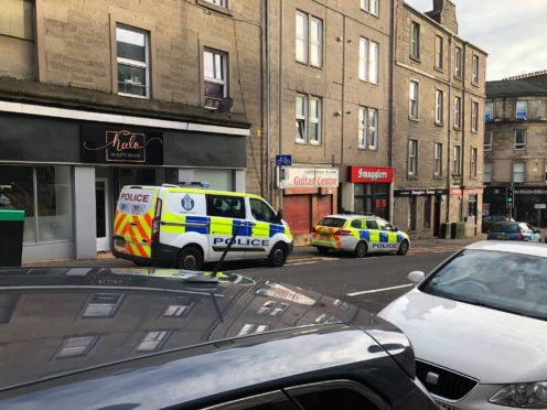Police outside the Albert Street flats on November 6 last year