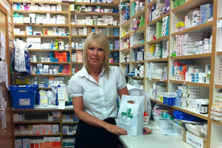 Bernadette Brown at Cadham Pharmacy.