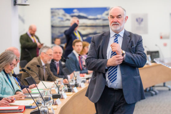 Council Leader Murray Lyle at Perth and Kinross budget meeting