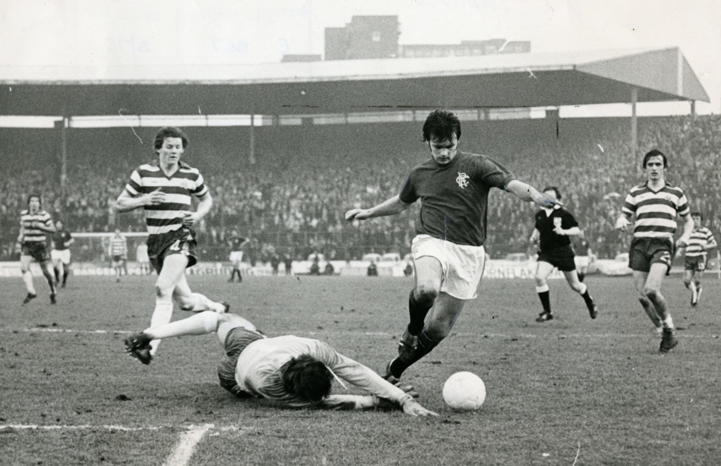 Davie Cooper running riot in a Rangers shirt at the height of his powers.