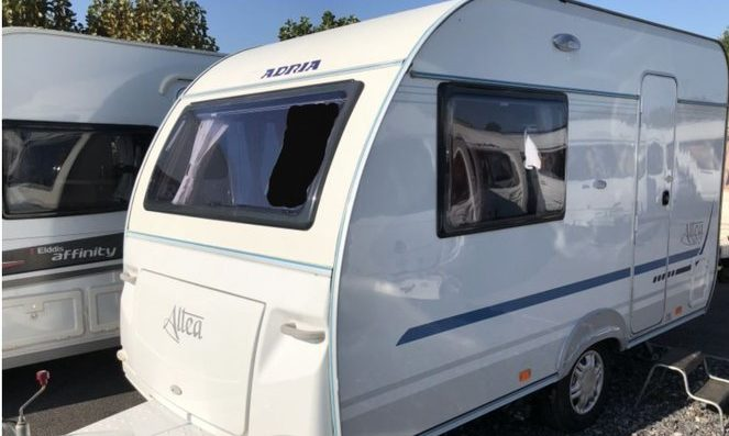 The caravan is an 11-year-old model.