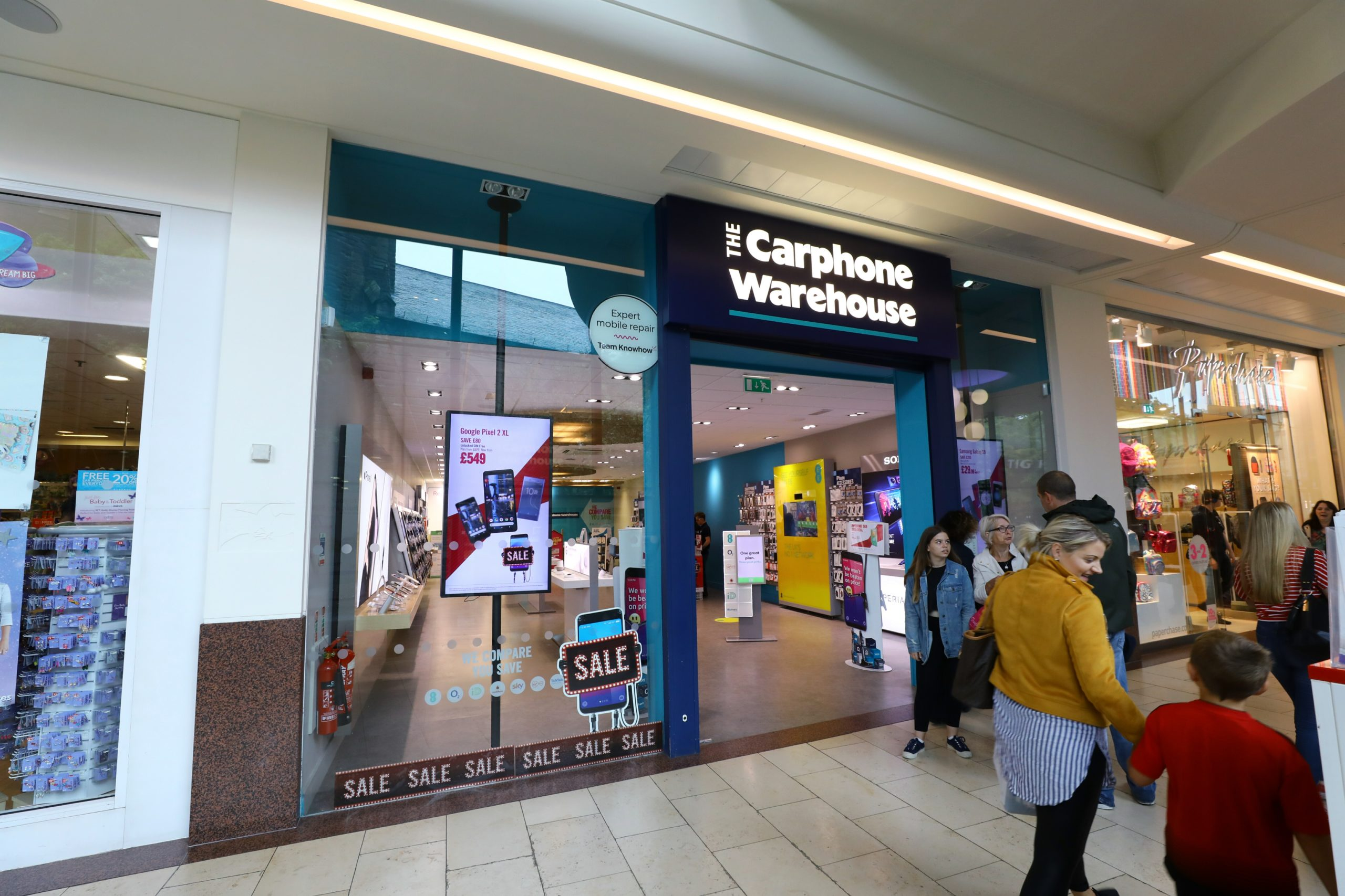 The Carphone Warehouse store in the Overgate Shopping Centre in Dundee.