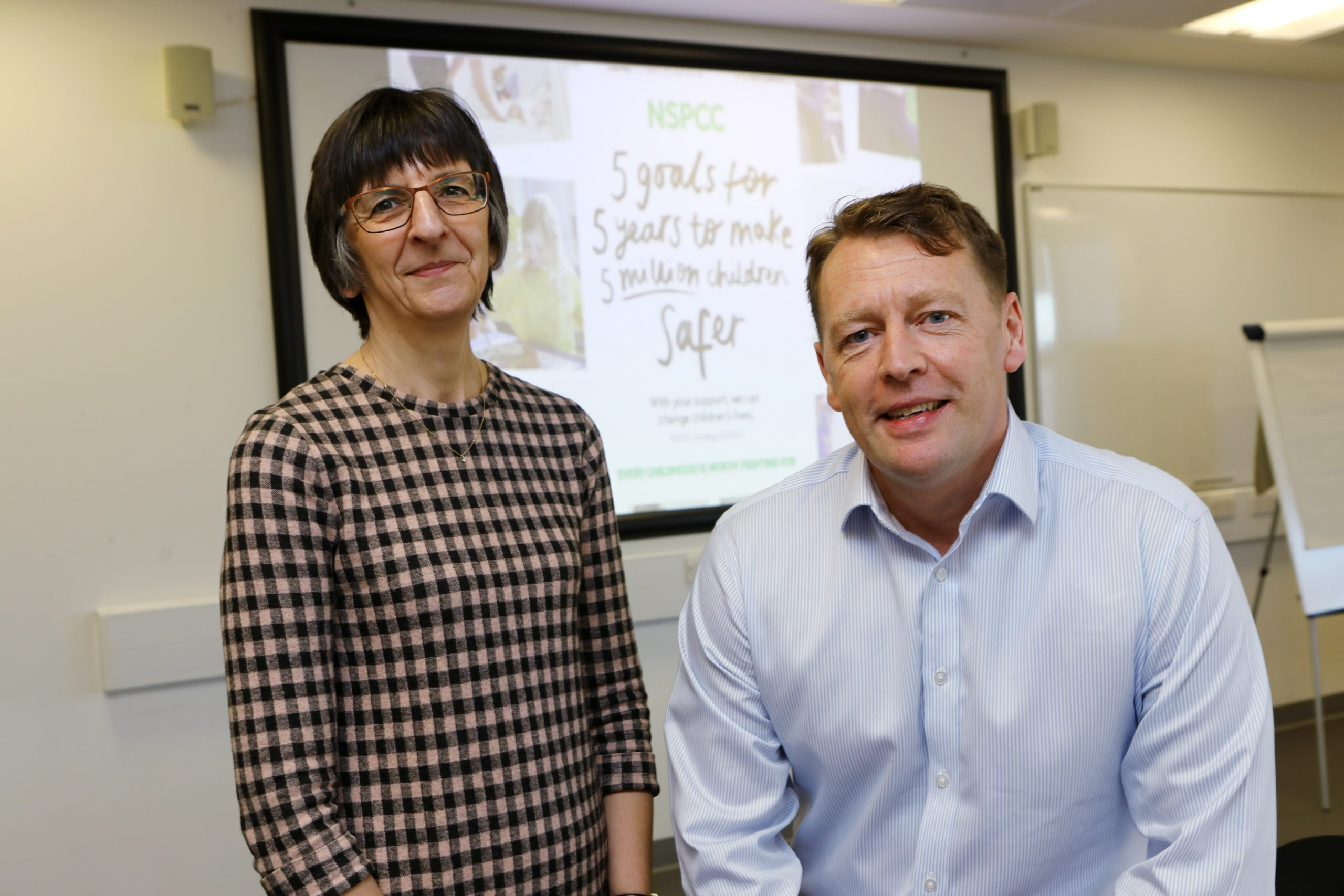 NSPCC schools service co-ordinator Enola Butler and service manager Alan Stewart spoke to the Dundee University conference.