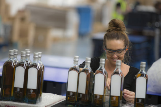 One of Diageo's iconic brands under production.
