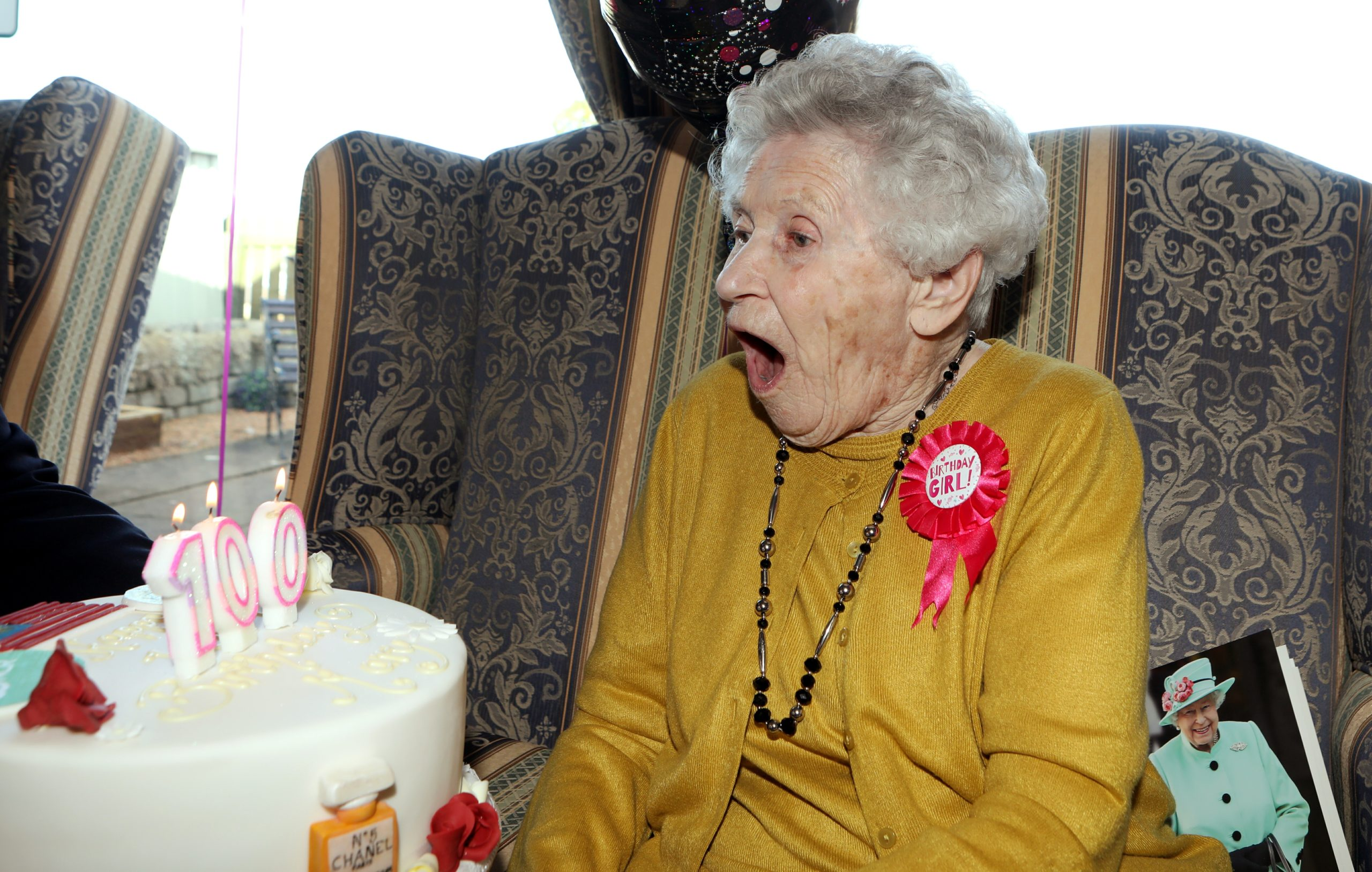 Mary Geekie from Forfar celebrated her 100th birthday at Windyedge Cottage Care Home.