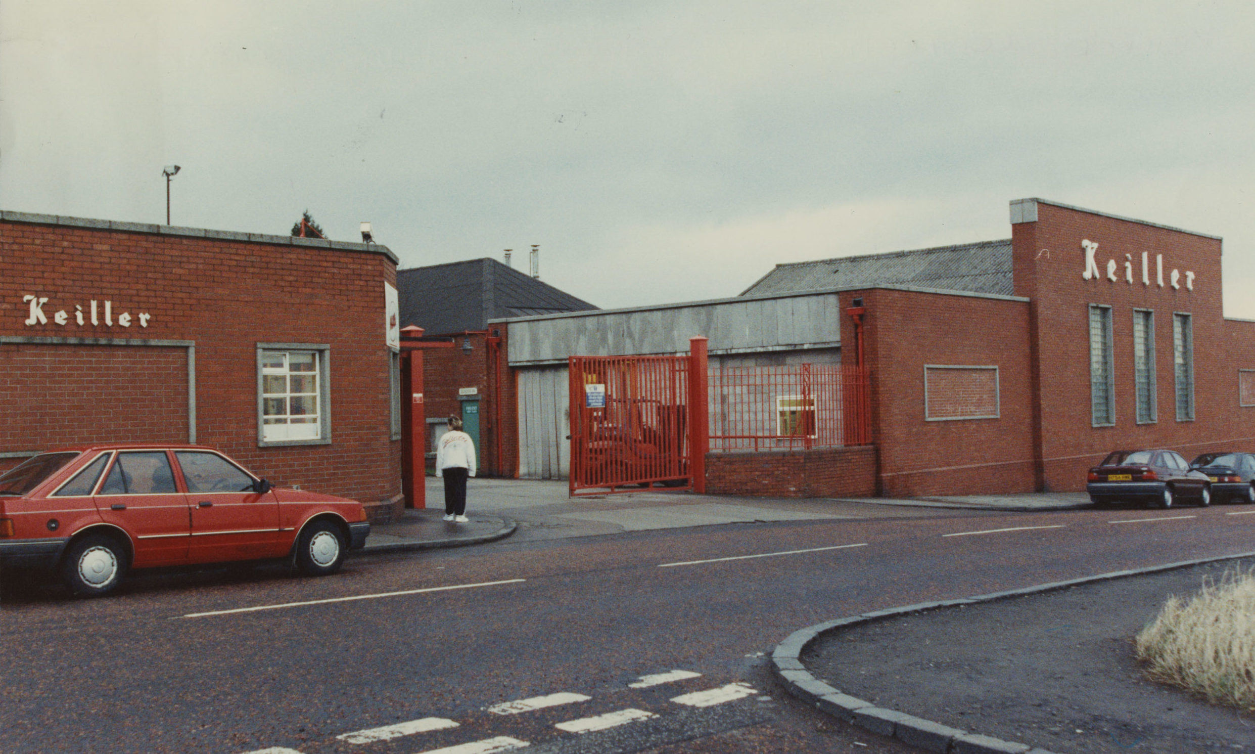 The front gates of James Keiller & Sons Ltd confectionery factory, Mains Loan, Dundee, on January 6 1992.