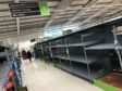 While many supermarkets have restocked, scenes like this have not helped foodbanks.