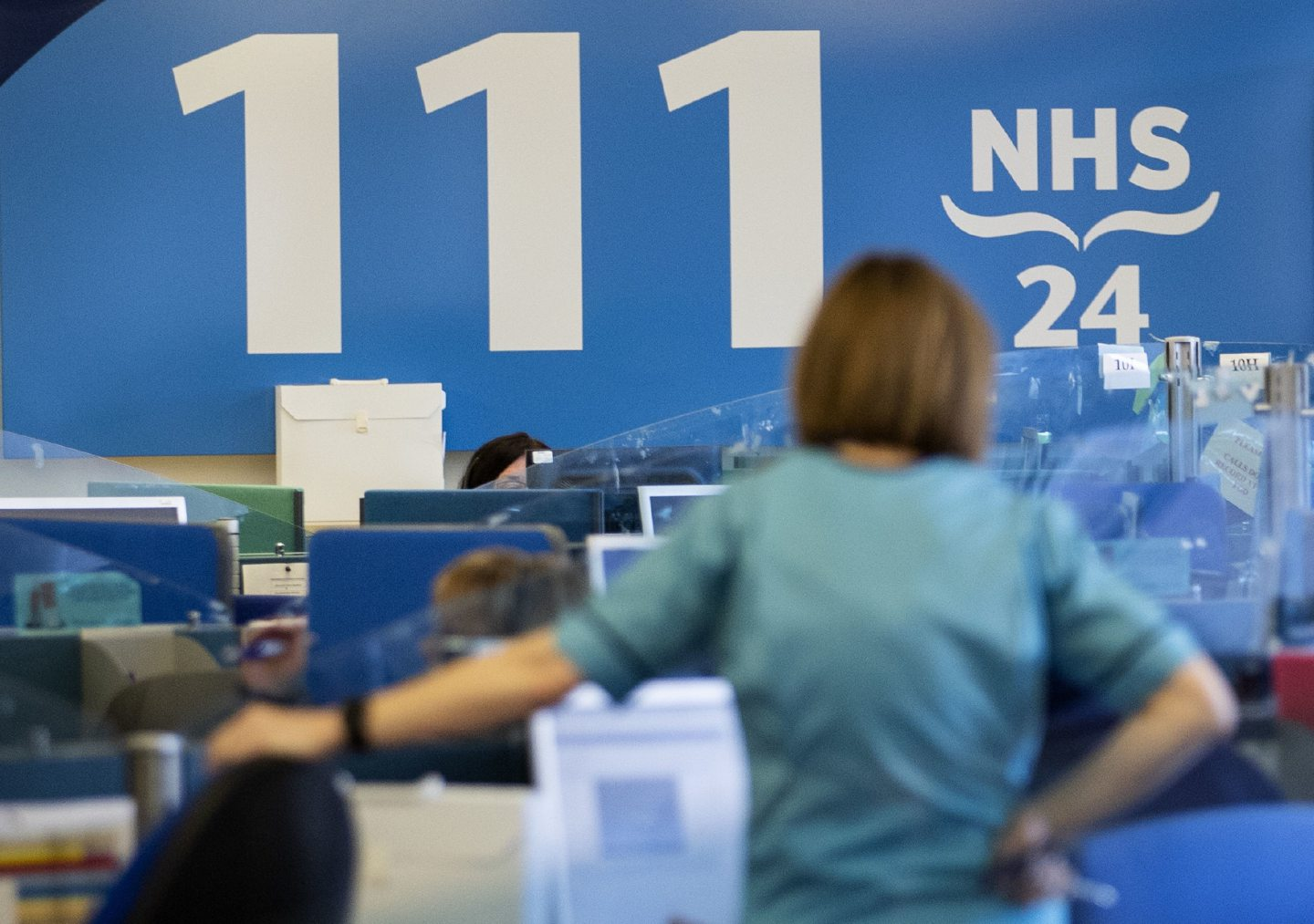 The NHS 24 contact centre at the Golden Jubilee National Hospital in Glasgow.