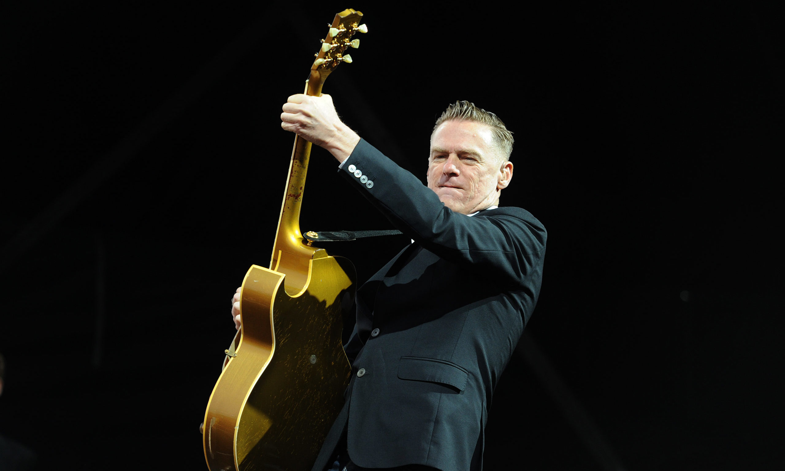 Canadian singer Bryan Adams entertains the crowds on the Montrose Links.