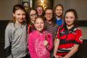 From left, Eilidh Bisset, Michaela Hart, Charley Ogilvie, Hannah Watson, Keris Johnston and Rhianna Hogg.  Front, Toni MacLeod.