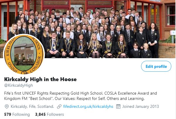 The main picture of the school's Twitter account looks a little different....