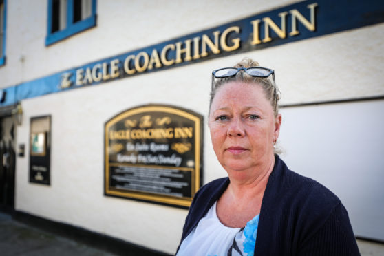Debbie Findlay, the owner of Eagle Coaching Inn, one of the pubs involved
